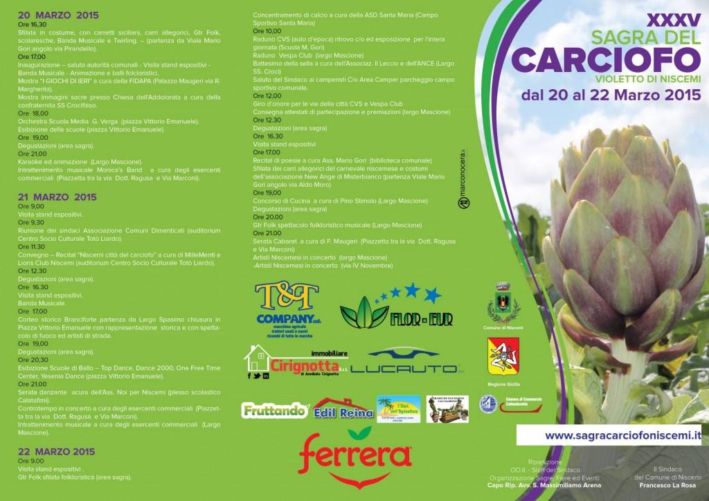 XXXV Sagra Carciofo di Niscemi - PROGRAMMA